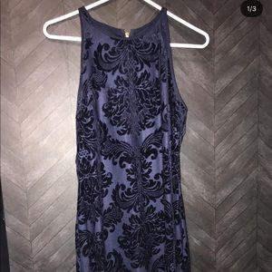 Midi blue dress